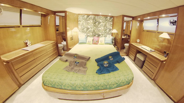 Sanlorenzo master cabin